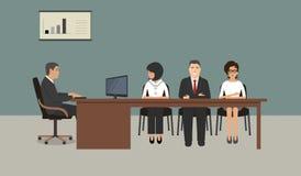 Работники офиса во время встречи Стоковое Изображение RF