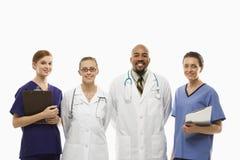 работники портрета медицинского соревнования Стоковая Фотография