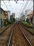Работники работая в поезде следа Стоковая Фотография