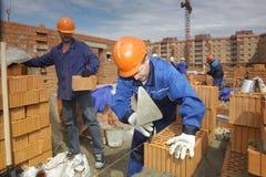 работники строительной площадки Стоковое фото RF