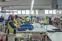 Работники ткани Стоковая Фотография