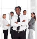 работники фронта co бизнесмена стоящие Стоковая Фотография RF