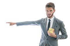Работник включения бизнесмена Стоковая Фотография