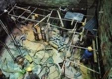 Работник в строительной площадке вала Стоковое Изображение