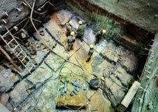 Работник в строительной площадке 2 вала Стоковые Фотографии RF