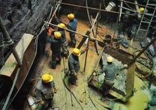 Работник в строительной площадке 10 вала Стоковое Фото