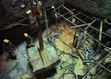 Работник в строительной площадке 12 вала Стоковая Фотография RF
