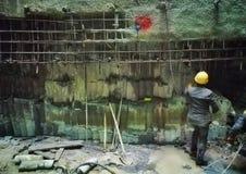 Работник в строительной площадке 17 вала Стоковое Изображение RF