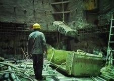 Работник в строительной площадке 18 вала Стоковое Изображение