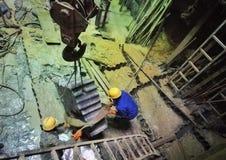 Работник в строительной площадке 19 вала Стоковые Фотографии RF