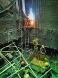 Работник в строительной площадке 24 вала Стоковое фото RF