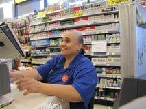 Работник женщины аптеки Стоковое Изображение