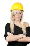 работник женщины конструкции Стоковые Изображения RF
