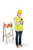 работник женщины конструкции Стоковое Изображение
