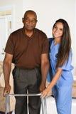 Работник здравоохранения и пожилой пациент Стоковые Изображения RF