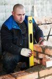 работник каменщика конструкции стоковые фотографии rf