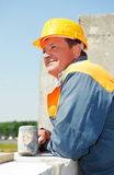 работник каменщика конструкции стоковые изображения rf