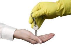 работник ключа чистки бизнесмена Стоковое Изображение