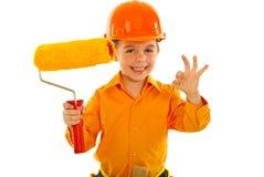 работник колеривщика мальчика успешный Стоковое Фото