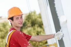 работник колеривщика фасада строителя Стоковая Фотография RF