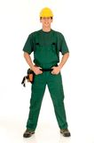 работник конструкции зеленый Стоковая Фотография