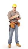 работник конструкции полнометражный Стоковое фото RF