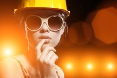 работник конструкции холодный стоковые изображения