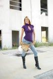 работник конструкции 2 блондинк сексуальный Стоковые Фотографии RF