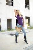 работник конструкции 3 блондинк сексуальный Стоковое фото RF