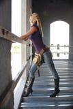 работник конструкции 4 блондинк сексуальный Стоковое Фото