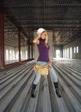 работник конструкции 5 блондинк сексуальный Стоковые Фотографии RF