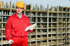 работник контролера строителя ся Стоковое Изображение