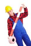 работник ленты барьера Стоковое Изображение