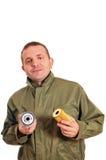 работник масла фильтра Стоковое фото RF