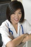 работник медицинского соревнования Стоковая Фотография
