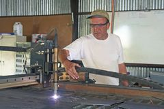 работник металла Стоковое Фото