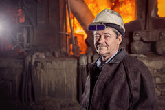 Работник металлургической фабрики Стоковое Изображение