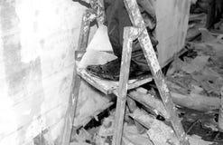 Работник на лестнице Стоковое Изображение RF
