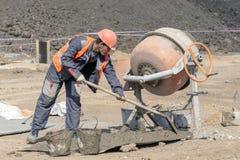 Работник на строительной площадке стоковые изображения