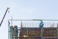 Работник на строительной площадке Стоковые Изображения RF