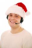 работник обслуживания клиента рождества Стоковые Фотографии RF