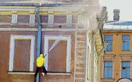 работник обслуживания чистки Стоковые Фотографии RF