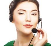 Работник обслуживания клиента женщины стоковая фотография rf