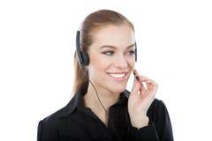 Работник обслуживания клиента Frindly. Усмехаясь кавказская женщина Стоковое Изображение