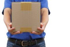 Работник доставляющий покупки на дом Стоковое Изображение
