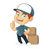 Работник доставляющий покупки на дом Стоковая Фотография RF
