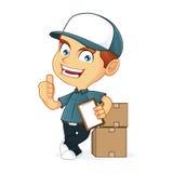 Работник доставляющий покупки на дом Стоковое Изображение RF