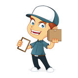 Работник доставляющий покупки на дом Стоковые Изображения