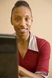 работник офиса афроамериканца Стоковые Фото