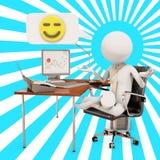 Работник офиса Дзэн иллюстрация вектора